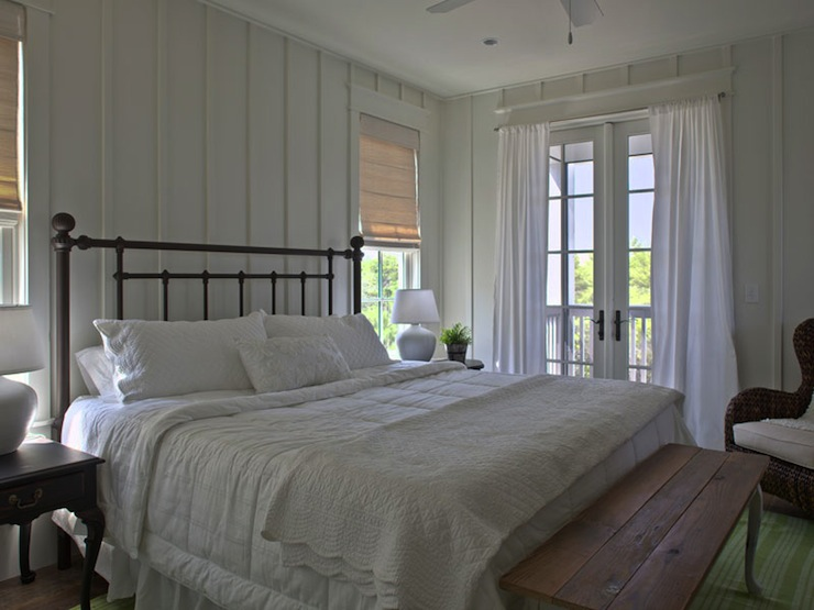 Black Beadboard Wallpaper White Cottage Bedroom Cottage Bedroom Geoff Chick