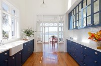 Blue Galley Kitchen - Cottage - kitchen - Arent & Pyke