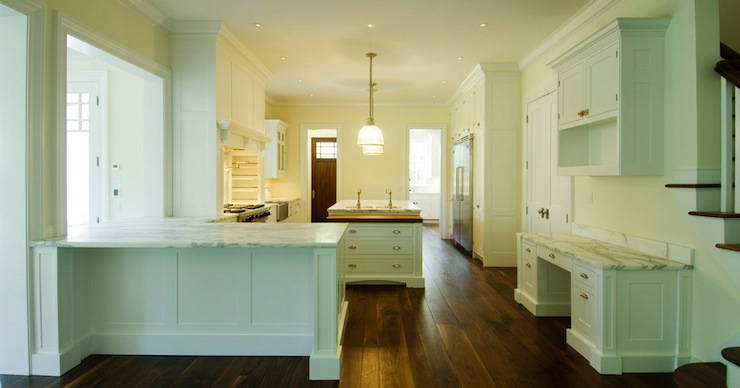Kitchen Island With Cooktop And Prep Sink Kitchen Island Peninsula - Traditional - Kitchen - Bakes