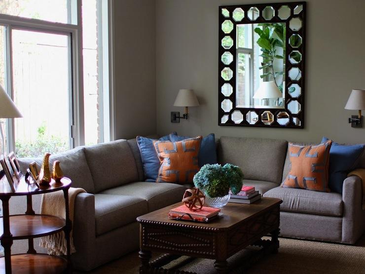 Orange And Blue Living Room Design Ideas - orange and brown living room