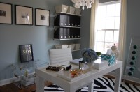 Blue Grey Paint Color - Contemporary - den/library/office ...