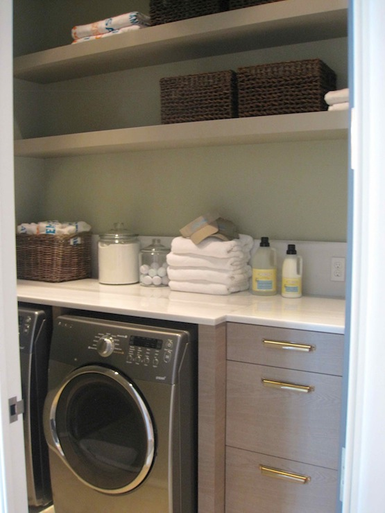 Washer And Dryer Cabinets Laundry Room Paint Colors - Contemporary - Laundry Room