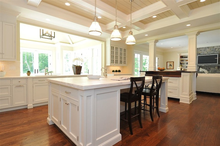 Island Tables For Kitchen With Stools Kitchen Pass Through - Traditional - Kitchen - Jillian