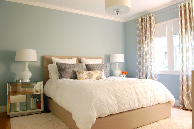 Bm Muebles Blue Walls - Contemporary - Bedroom - Benjamin Moore Beach