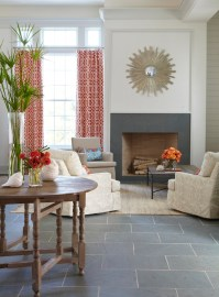 Slate Fireplace - Cottage - living room - Tracery Interiors