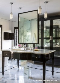 Hanging Bathroom Mirror - Hollywood Regency - bathroom ...