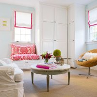 Hot Pink Living Room Bench Design Ideas