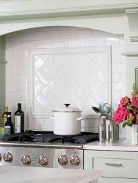 Subway Tile Herringbone Backsplash Design Ideas