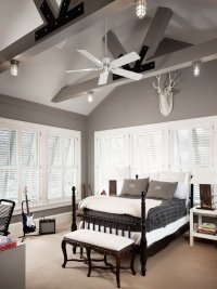 Grey Walls - Country - boy's room - Benjamin Moore Storm ...
