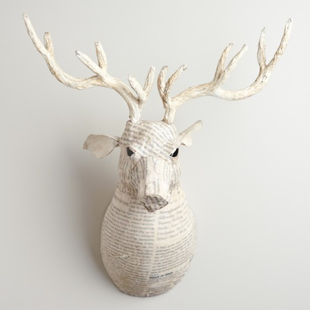 Animal Print Wallpaper For Bedrooms Recycled Papier Mache Animal Sculpture Look 4 Less
