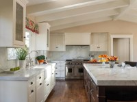 Vaulted Ceiling in Kitchen - Transitional - kitchen ...