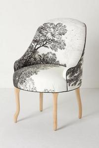 Handpainted Toile Pull-Up Chair - Anthropologie.com