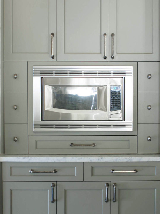 Gray Shaker Cabinet Kitchen Gray Green Cabinet Paint Color - Cottage - Kitchen