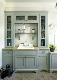 Blue Gray Cabinets - Country - laundry room - Precision ...