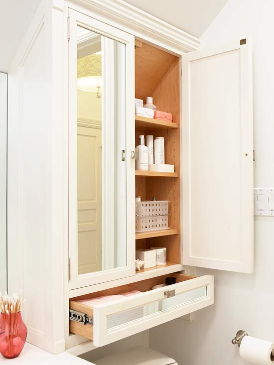 Ikea Medicine Cabinet Mirrored Doors - Transitional - Bathroom - Bhg