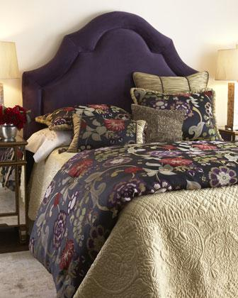 Black And Blue Floral Wallpaper Escapade Bed Linens Neiman Marcus