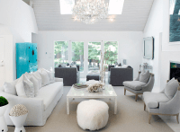 White and Gray Living Room - Contemporary - living room ...