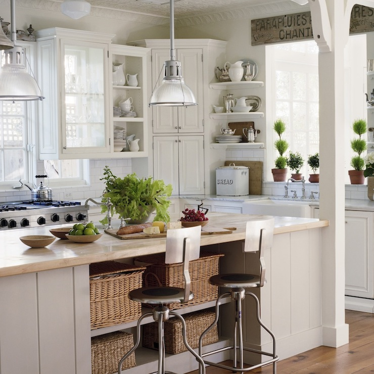 Kitchen Island Corner Posts Kitchen Island Storage - French - Kitchen - Giannetti Home