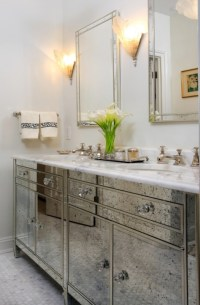 Antique Mirrored bathroom Vanity - Hollywood Regency ...