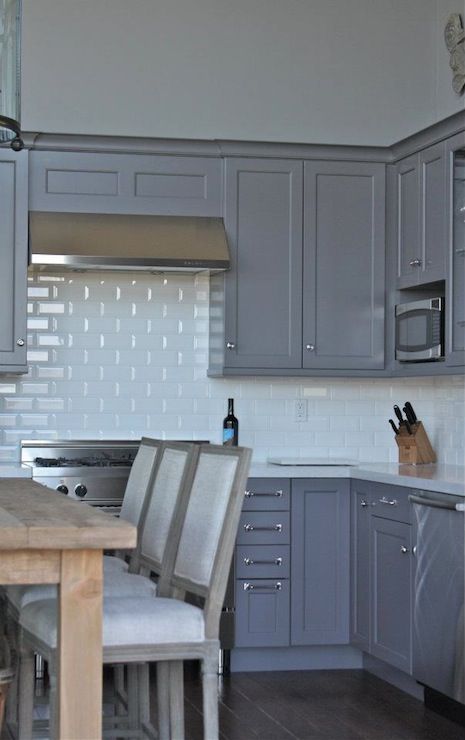 Kitchen Island Pendant Lighting Gray Cabinets - Transitional - Kitchen - William Adams Design