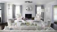 Blue and Gray Living Room - Contemporary - living room ...