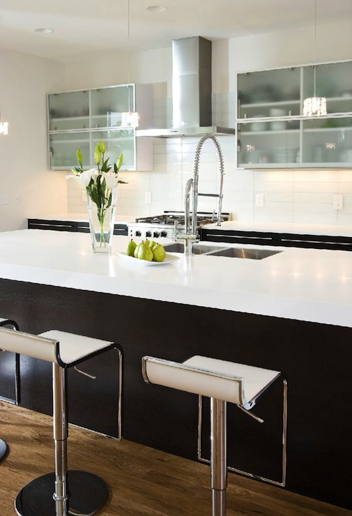 Kitchen Island Espresso Modern Espresso Kitchen Cabinets Design Ideas