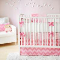Pink Chevron Crib Bedding Nursery