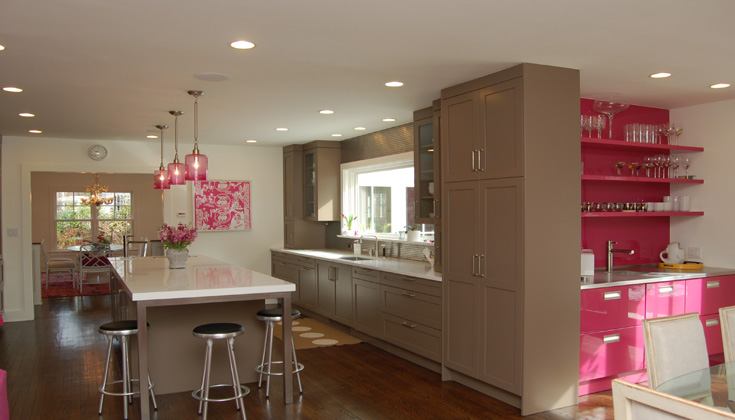Hello Kitty Pink Cute Wallpaper Pink And Brown Kitchen Contemporary Kitchen Kitchens
