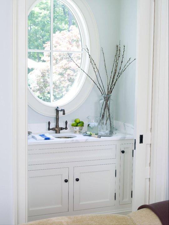 Small Powder Room - Transitional - Living Room - Alisberg Parker