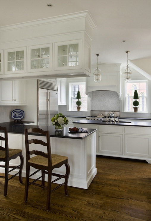 Over Kitchen Sink Lighting White Kitchen Cabinets With Black Countertops