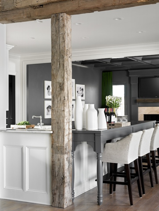 Small Kitchen Islands With Seating Rustic Wood Beams - Contemporary - Kitchen - Melanie