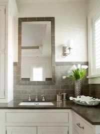 White And Gray Bathroom Design Ideas