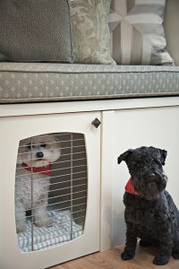 Built In Dog Crate - Transitional - living room - Pure by ...