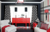 Chevron Curtains - Contemporary - living room - Jennifer ...