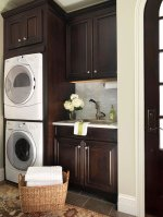 Laundry Room Stacked Washer And Dryer
