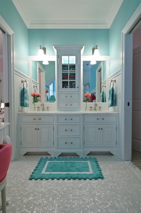 Turquoise Bathroom Contemporary Bathroom Tr Building Remodeling