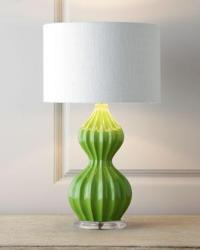 Green Peanut Lamp I Horchow