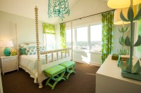 Turquoise and Green Girl's Room - Contemporary - girl's ...