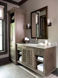 Dark Maple Cabinets - Transitional - bathroom - Linda ...
