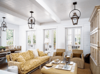 Living Room Beadboard Ceiling Design Ideas