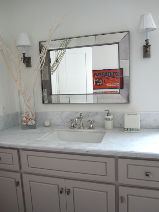 Beveled Mirror Designs Gray Bathroom Vanity Design Ideas
