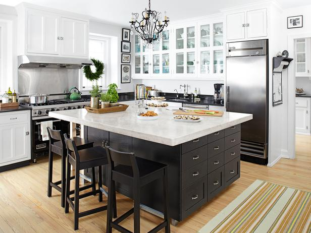 Stainless Steel Topped Kitchen Islands Black Kitchen Island - Transitional - Kitchen - Hgtv