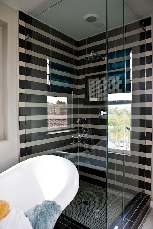 Girl In Rain Wallpaper For Facebook Striped Shower Tiles Contemporary Bathroom Lulu Designs