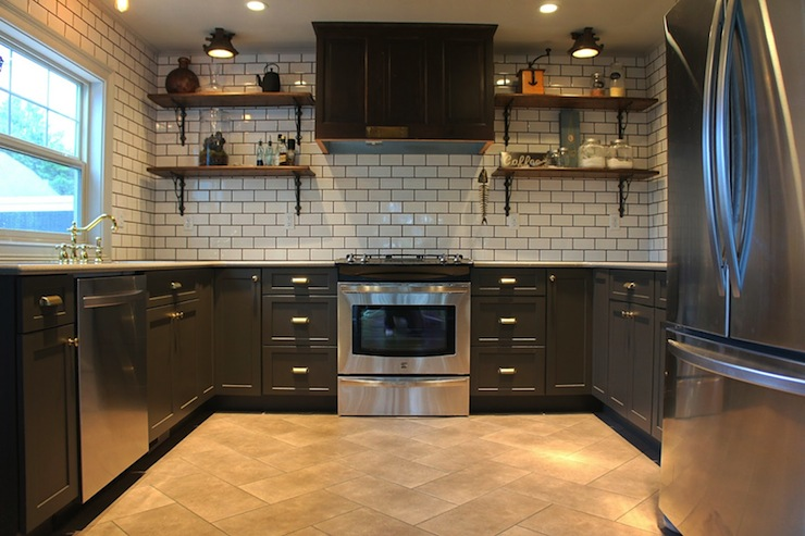 Paint Kitchen Cabinet Hardware Silver Travertine Subway Tile Backsplash Design Ideas