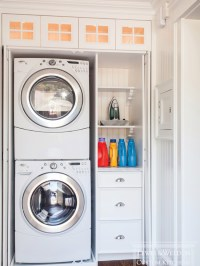 Hidden Laundry Room - Traditional - laundry room - Lewis ...
