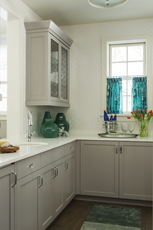 Paint Kitchen Cabinet Hardware Silver Gray Kitchen Cabinet Colors - Contemporary - Kitchen