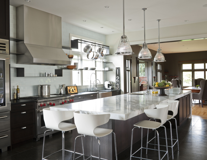 Kitchen Cabinets Long Island Long Kitchen Island - Contemporary - Kitchen - Nb Design Group