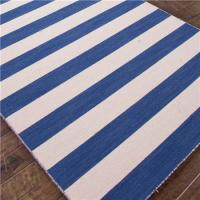 Blue And White Striped Rug - Look 4 Less and Steals and Deals.
