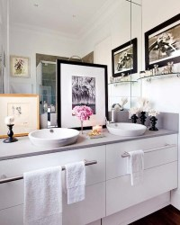 His and Her Vessel Sinks - Contemporary - bathroom - Nuevo ...