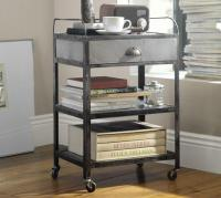 Metal Rolling Cart Bedside Table - Pottery Barn